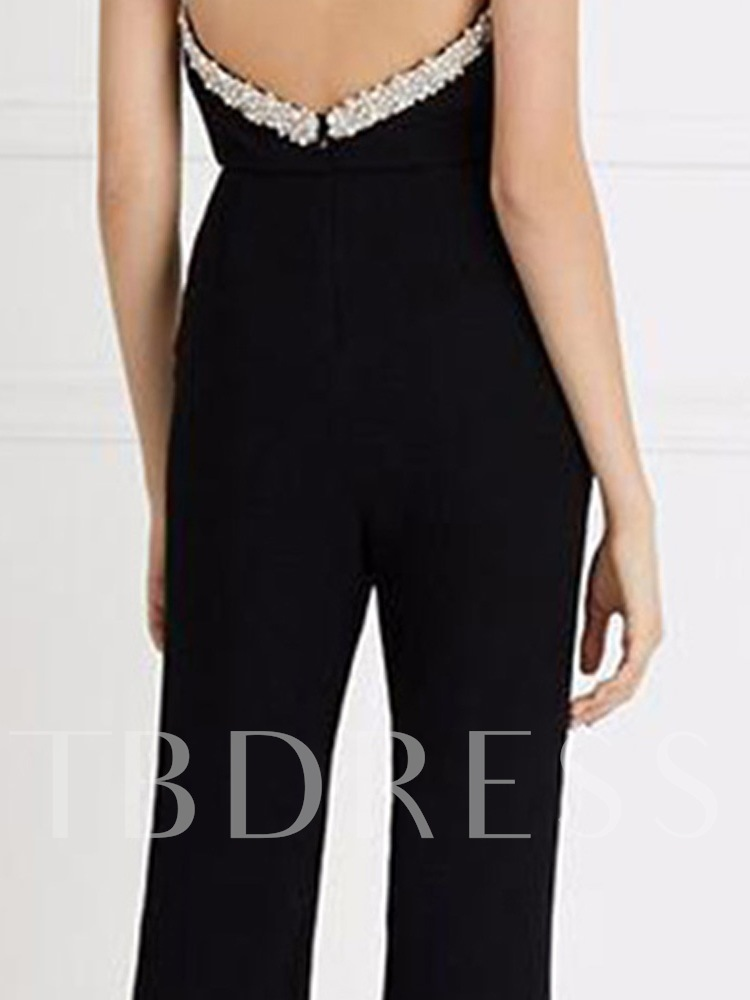 Full Length Sexy Sequins Bellbottoms Women's Jumpsuit