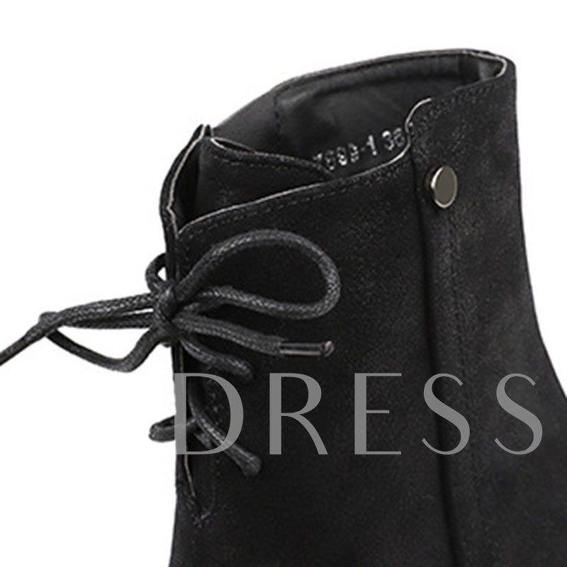 Plain Pointed Toe Side Zipper Casual Booties