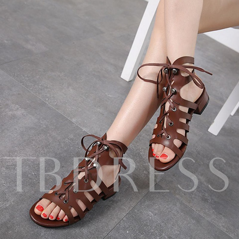 Elastic Band Open Toe Flat Sandals