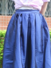 Plain Ankle-Length A-Line Casual Women's Skirt