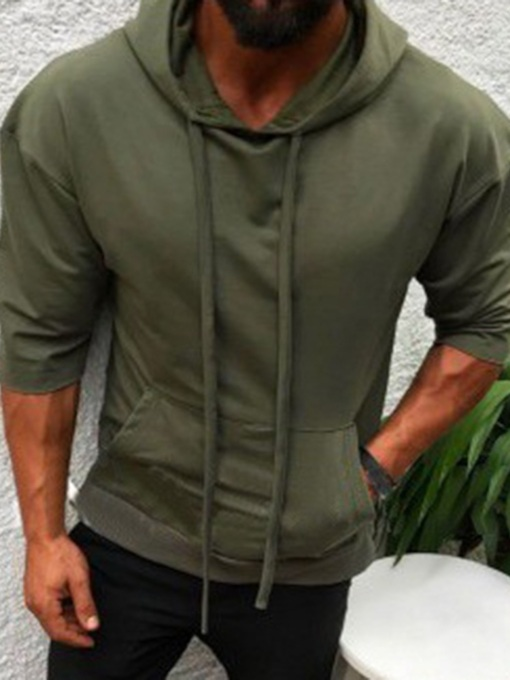 Plain Thin Pullover Spring Men's Hoodies