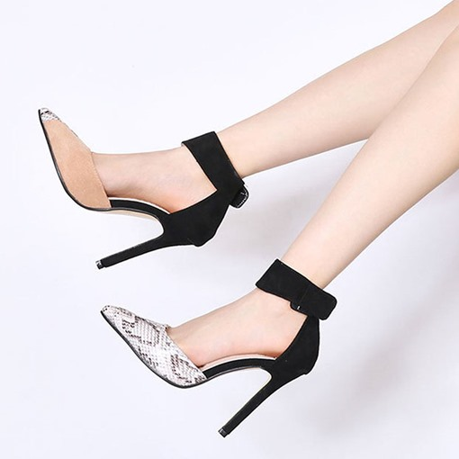 Pointed Toe Velcro Thread Casual Pumps
