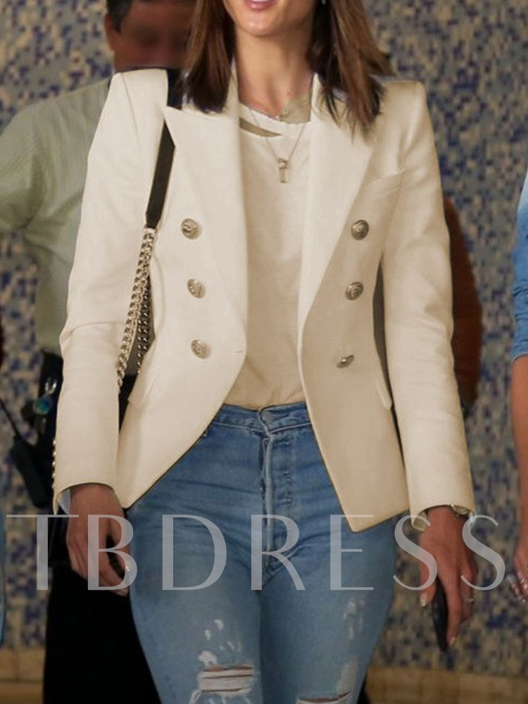 Casual Office Lady Double-Breasted Women's Casual Blazer