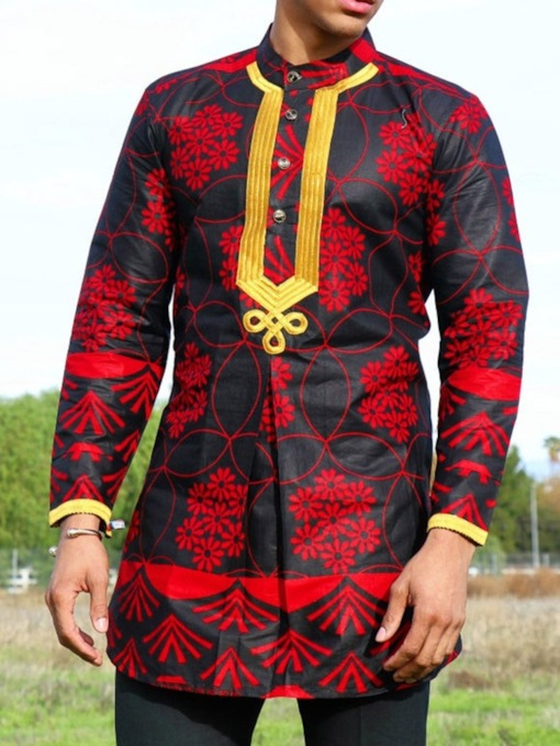 Ethnic Plant Straight Men's Shirt