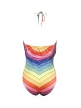 One Piece Stripe Western Women's Swimwear