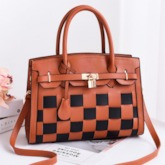 Knitted Korean Plaid Rectangle Tote Bags
