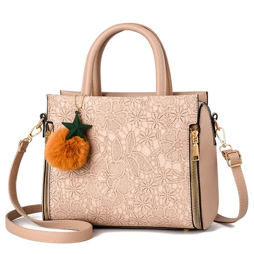 Floral PU Print Rectangle Tote Bags