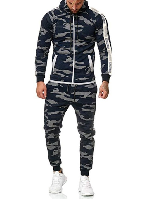 Casual Pants Print Camouflage Men's Outfit