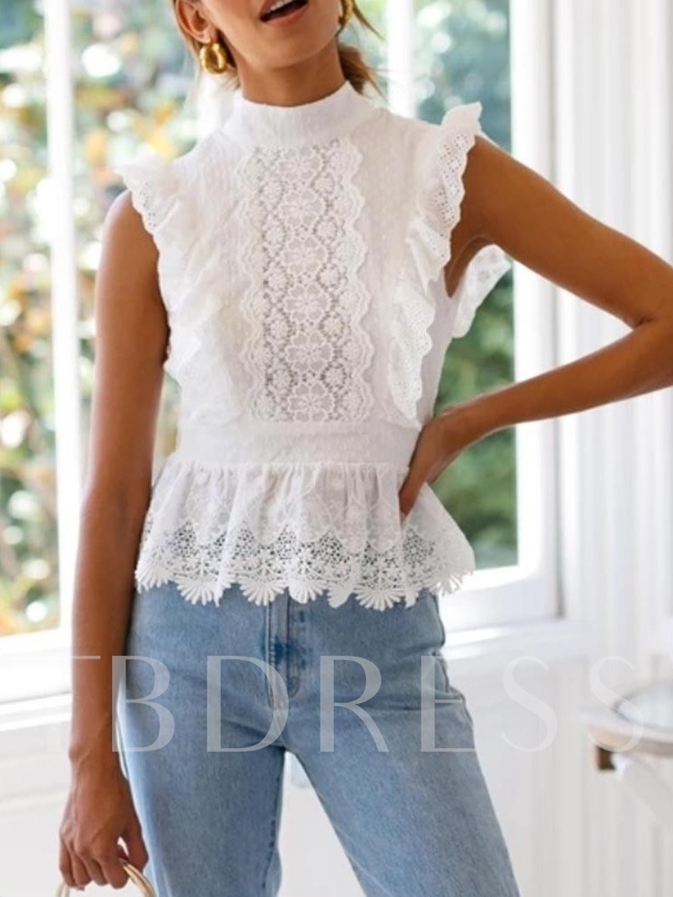 Lace Hollow Slim Women's Tank Top