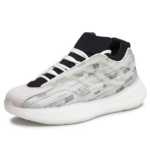 Lace-Up Sports Platform Low-Cut Upper Men's Sneakers