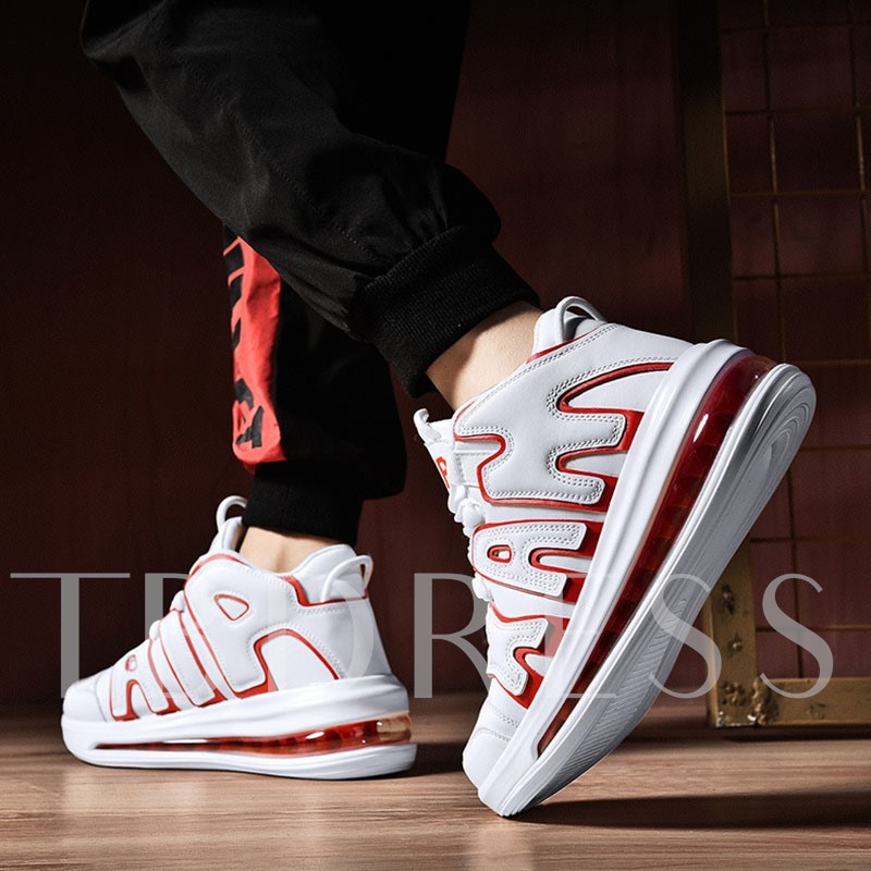 Lace-Up Air Cushion Round Toe Men's Sneakers