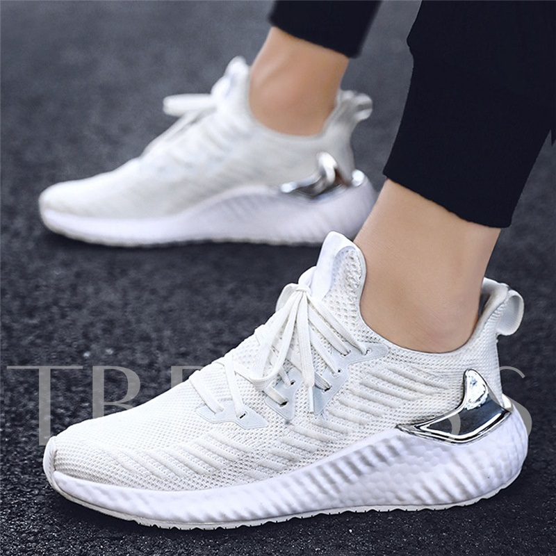 Low-Cut Upper Lace-Up Platform Sports Round Toe Sneakers