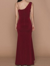 Party Sleeveless Floor-Length Asymmetric V-Neck Dress Women's Dress