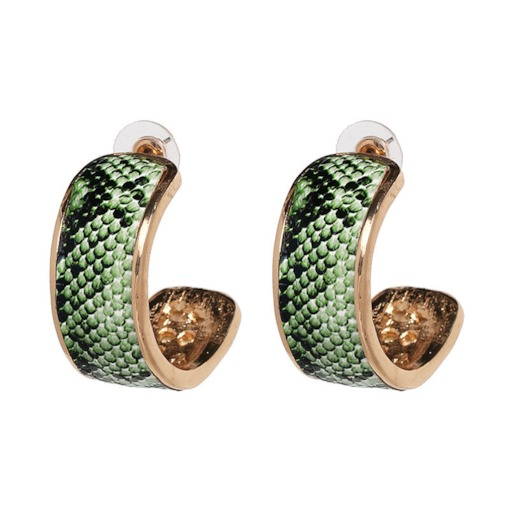 Serpentine E-Plating Casual Stud Earrings