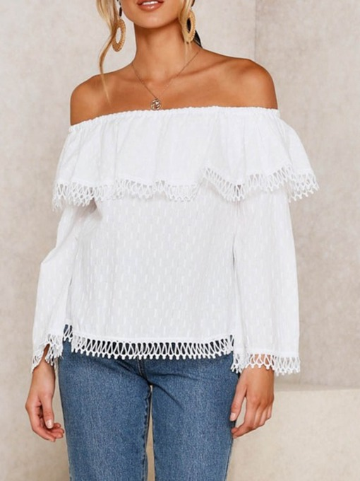 Off Shoulder Sweet Casual Lace Women's Blouse