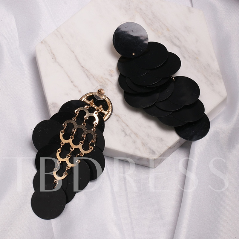 Plain European Alloy Party Earrings