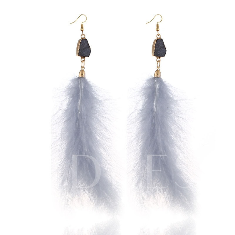 Sweet Feather E-Plating Gift Earrings