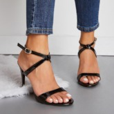 Stiletto Heel Buckle Open Toe Plain Sandals