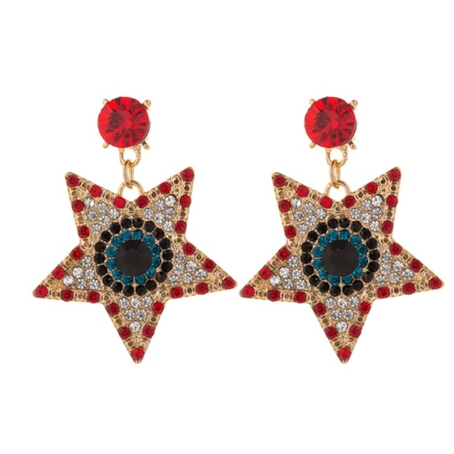 Star Alloy European Wedding Earrings