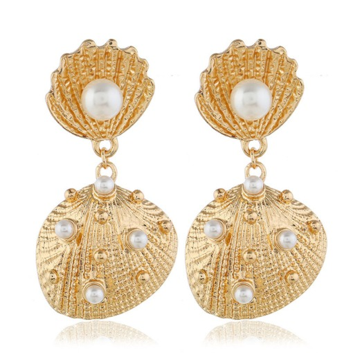 Sweet Alloy Pearl Inlaid Anniversary Earrings