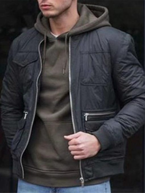 Zipper Thick Round Neck Plain Zipper Men's Jacket
