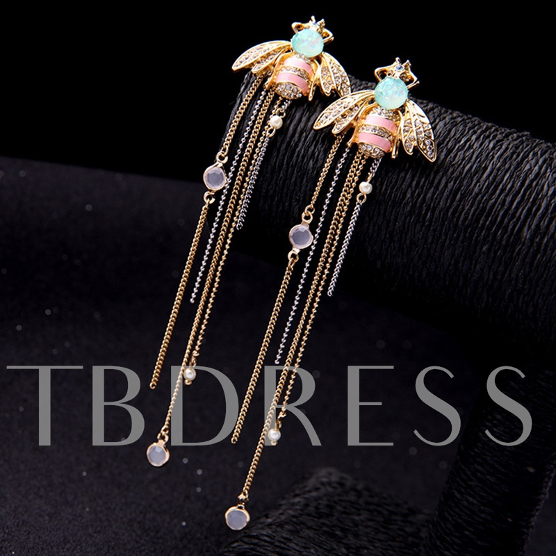 Diamante Alloy Insect Shape Gift Drop Earrings