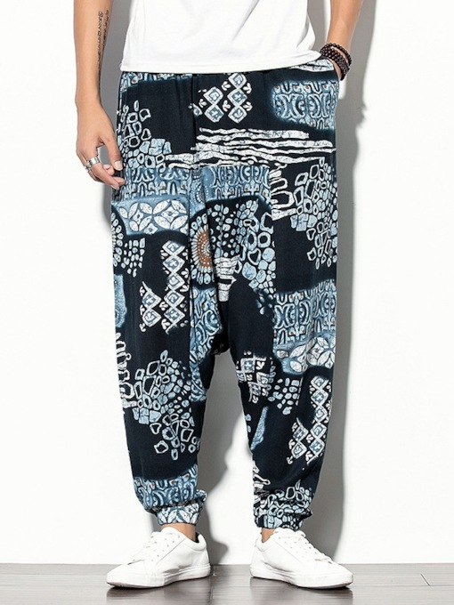 Baggy Pants Print Summer Men's Casual Pants