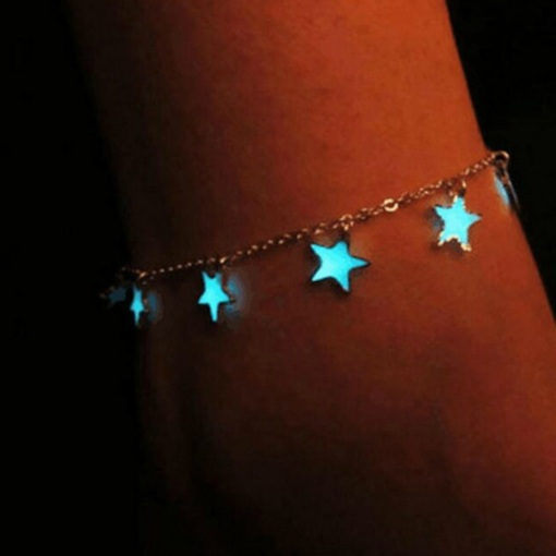 Female E-Plating Star Anklets