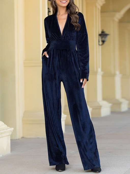 Plain Western Full Length Straight Skinny Women's Jumpsuit