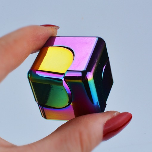 Plastic Colorful square Shape Fidget Toy Top Gyro