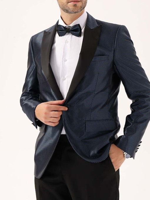 Wedding Bridegroom Blazer Slim Notched Lapel Casual One Button Men's leisure Suit