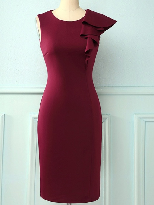 Round Neck Mid-Calf Party/Cocktail Elegant Pullover Women's Dress