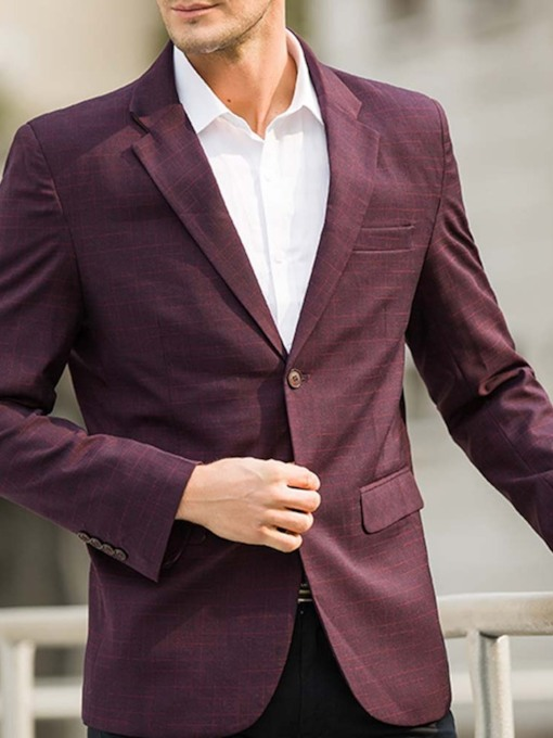 Wedding Dress Bridegroom Blazer Notched Lapel Slim Casual Single-Breasted Men's leisure Suit