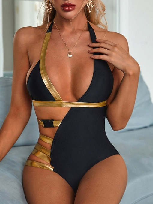 One Piece Asymmetrical Women's Swimwear