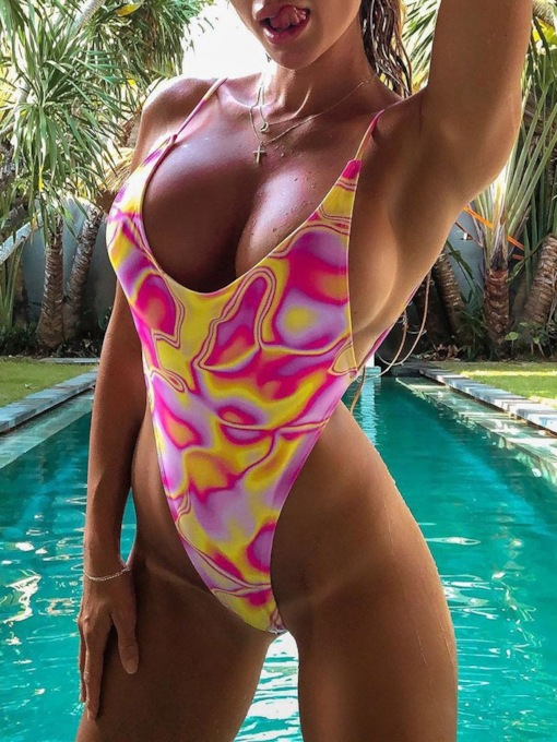 One Piece Colorful Women's Swimwear