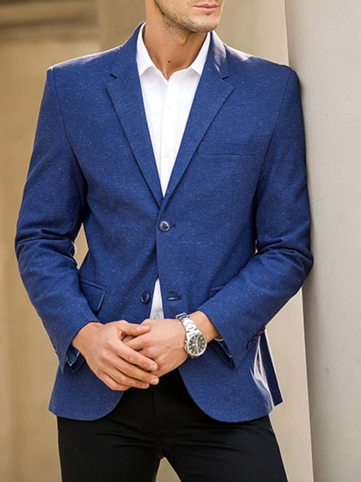 Wedding Bridegroom Blazer Notched Lapel Slim Single-Breasted Casual Men's leisure Suit