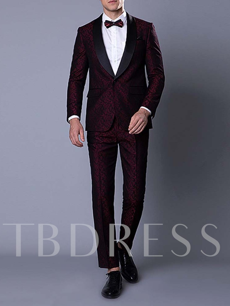 Party Suit Blazers Trousers Waistcoat Wedding Bridegroom Pants Print Floral One Button Men's Dress Suit