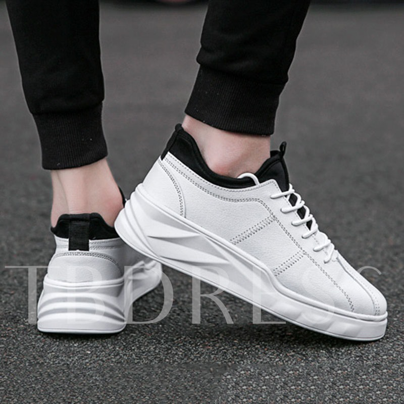 Platform Lace-Up Low-Cut Upper Round Toe Men's Sneakers