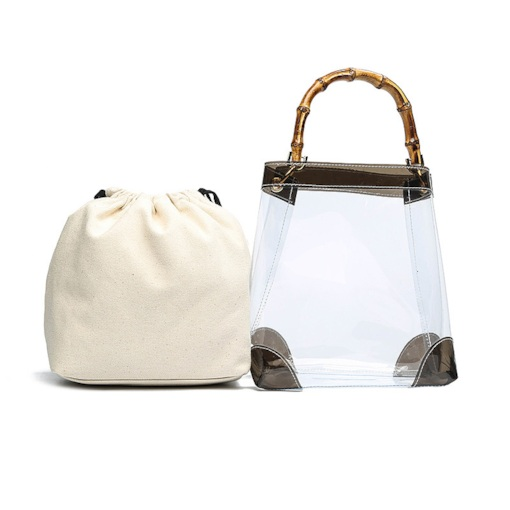 Plain Thread PVC Rectangle Tote Bags