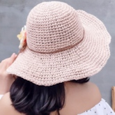 3D Floral Sweet Straw Hats