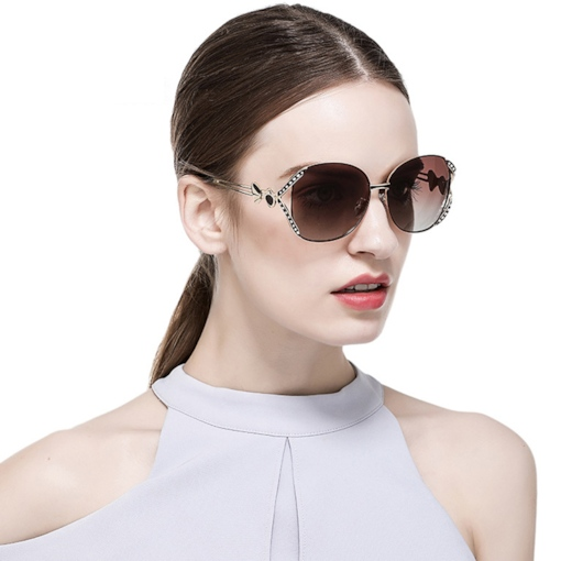 Wrap Resin Fashion Women's Sunglasses