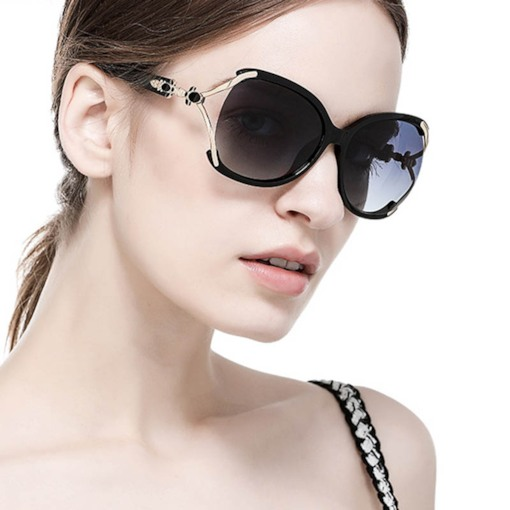 Resin Wrap Fashion Women's Sunglasses