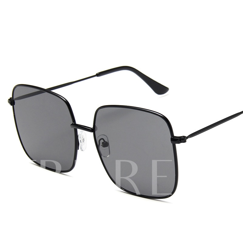 Resin Square Vintage Metal Sunglasses