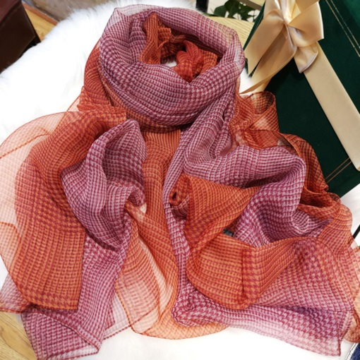 Ladylike Charmeuse Print Houndstooth Scarves