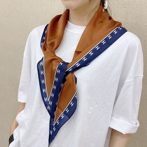 Fashion Charmeuse Scarf Color Block Scarves