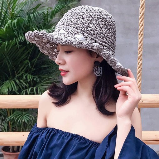Bowknot Straw Hat Sweet Plain Hats