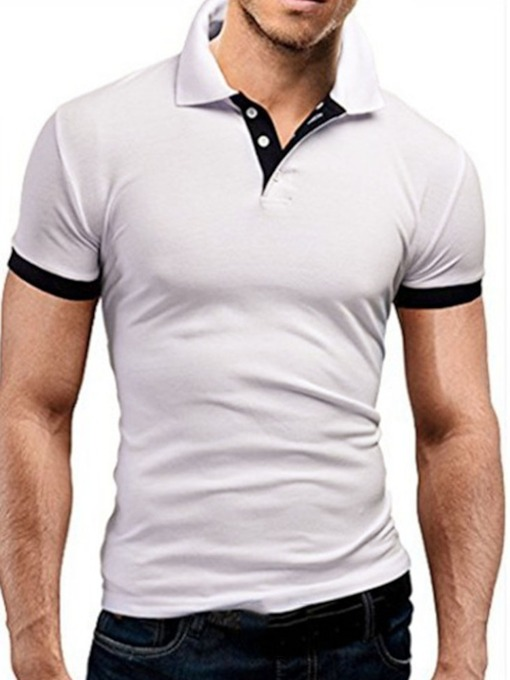 Cartoon Casual Polo Neck Men's Polo Shirt