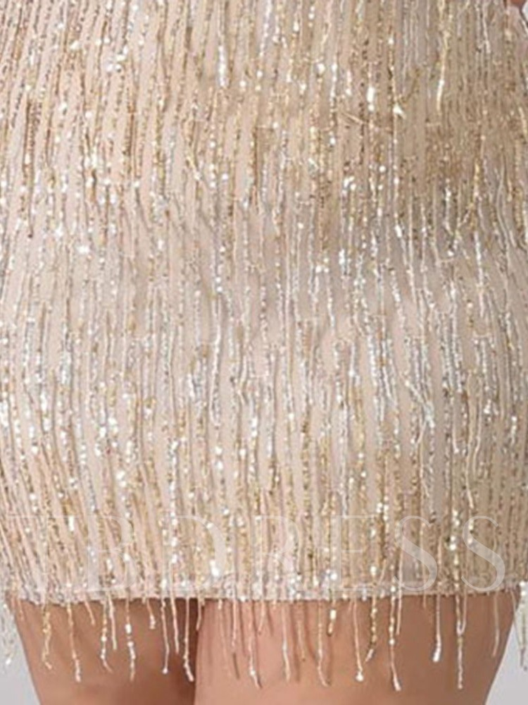Plus Size Sequins Off Shoulder Above Knee Sleeveless Sexy Women's Dress
