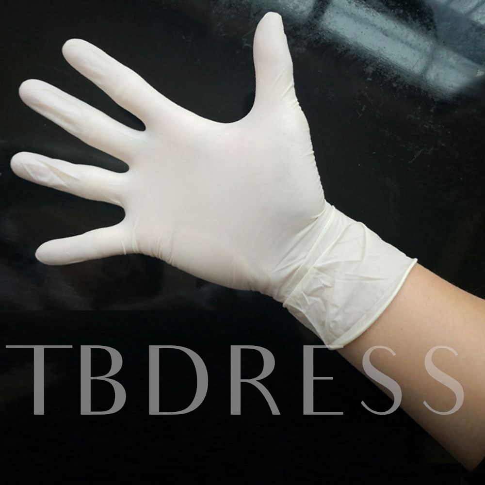 Disposable Latex Gloves Check Protective Rubber