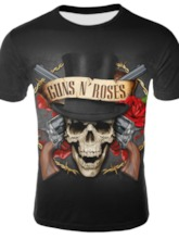 Skull Round Neck Print Casual Slim Men's T-shirt